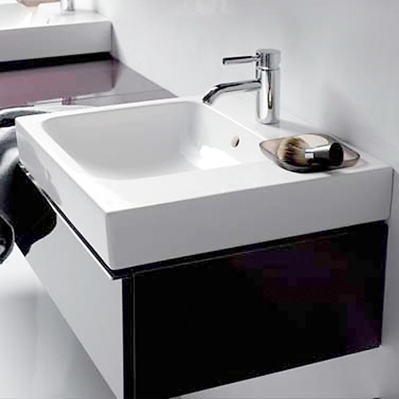 keramag icon waschtisch mit dekoschale wei mit keratect 124050600. Black Bedroom Furniture Sets. Home Design Ideas