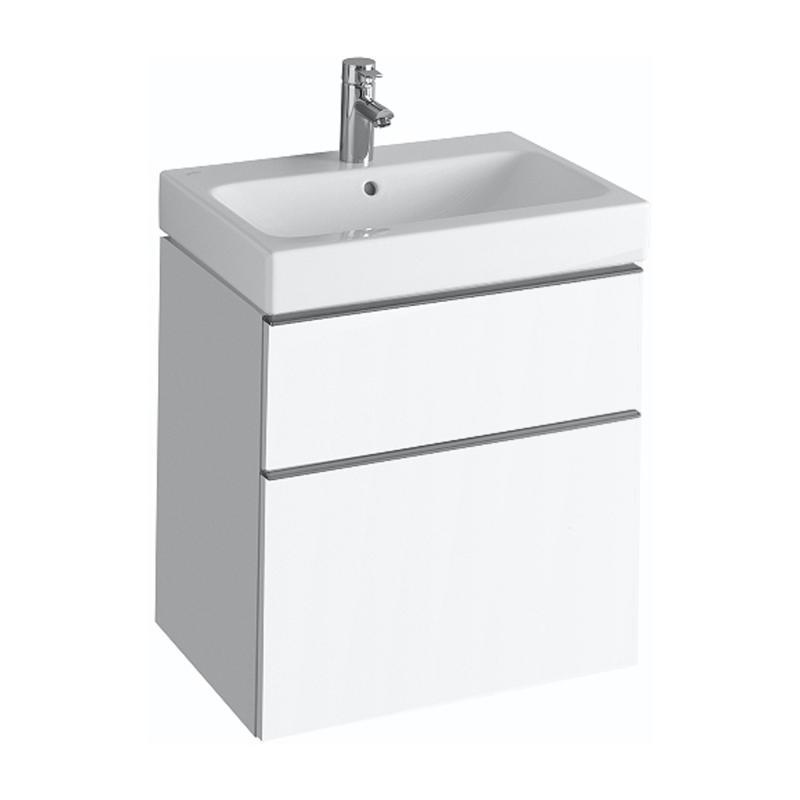 keramag icon waschtischunterschrank mit 2 ausz gen front und korpus alpin hochglanz 840360000