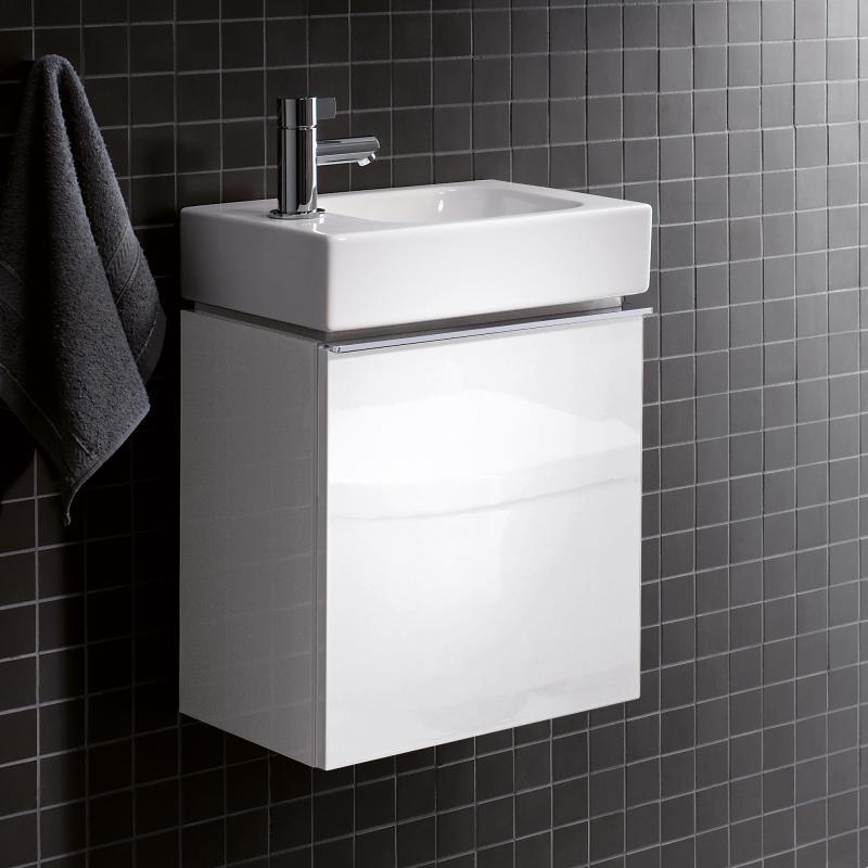 keramag icon xs handwaschbecken unterschrank mit 1 t r front und korpus alpin hochglanz. Black Bedroom Furniture Sets. Home Design Ideas
