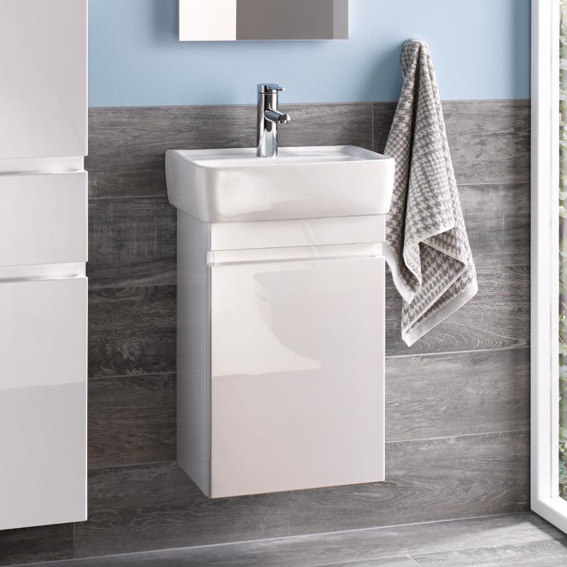 keramag renova nr 1 plan handwaschbecken unterschrank front und korpus wei hochglanz. Black Bedroom Furniture Sets. Home Design Ideas