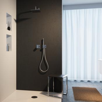 Keuco IXMO Duschsystem, mit Thermostat IXMO Pure, eckig