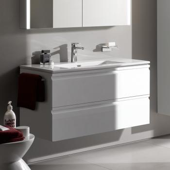 Laufen Pro S Waschtisch Mit Waschtischunterschrank Mit 2 Auszügen Front  Weiß Glanz / Korpus Weiß Glanz