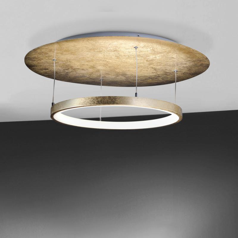 paul neuhaus nevis led deckenleuchte rund 8135 12 emerode - Deckenlampe Wohnzimmer Gold