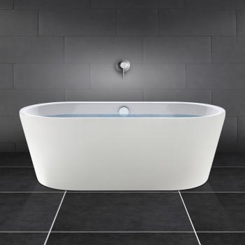 PREMIUM freistehende Oval-Badewanne Länge: 180 cm, Breite: 80 cm