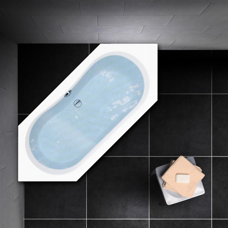 PREMIUM Sechseck-Badewanne Länge: 190 cm, Breite: 80 cm - PR1011 ...