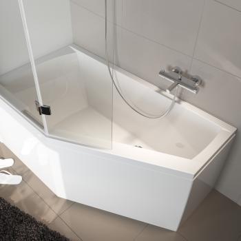 Riho Geta Raumspar Badewanne, Ausführung rechts ohne Whirlsystem
