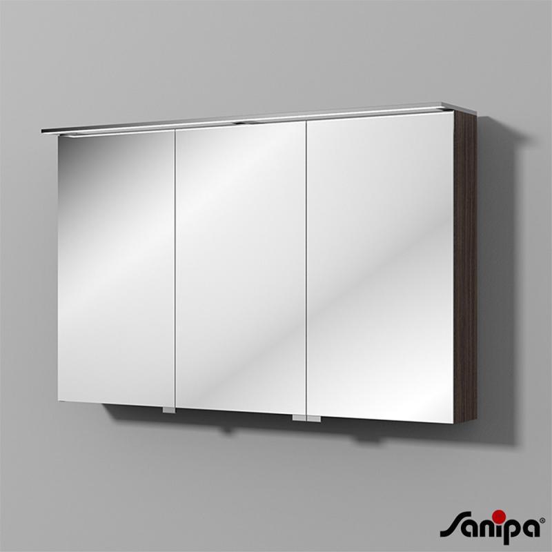 Sanipa Reflection Spiegelschrank Mit Led Beleuchtung Eiche Dunkel
