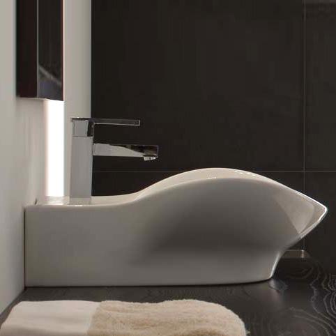 Scarabeo Waschbecken scarabeo zefiro r waschtisch hänge oder aufsatzmodell 8205