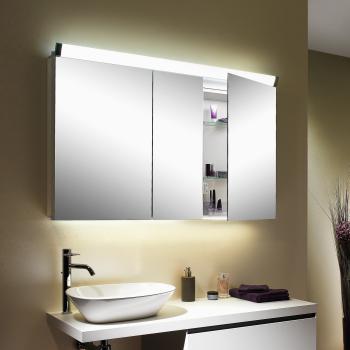 Schneider PALILINE Spiegelschrank mit 3 Türen, mit Beleuchtung
