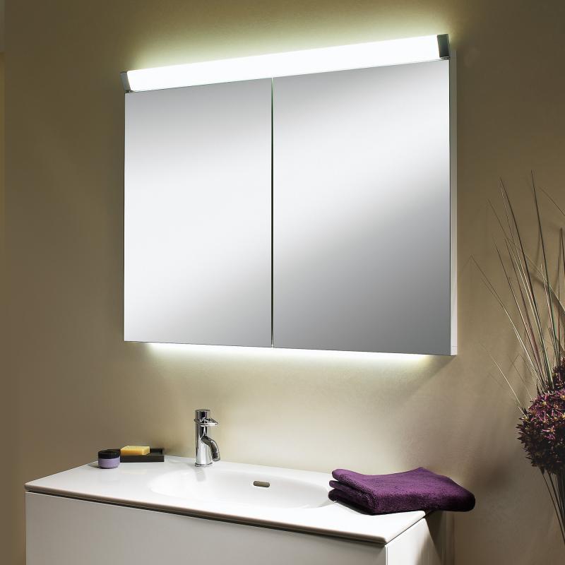 schneider paliline spiegelschrank mit 2 t ren mit beleuchtung