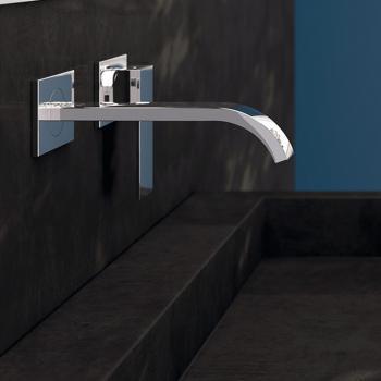 Steinberg Serie 135 Fertigmontageset für Waschtisch-Einhebelmischer Ausladung: 200 mm