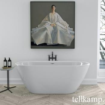 Tellkamp Cosmic XS freistehende Badewanne weiß glanz, Schürze weiß glanz