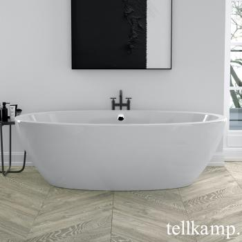 Tellkamp Space freistehende Oval Badewanne weiß/weiß