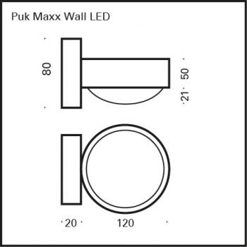 Top Light Puk Maxx Wall LED Wandleuchte