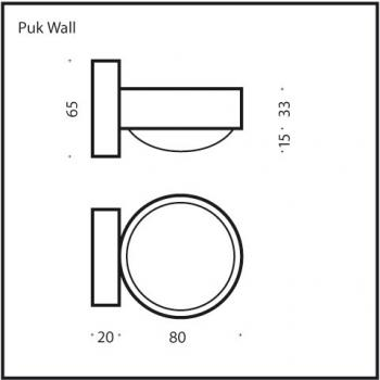 Top Light Puk Wall LED Wandleuchte