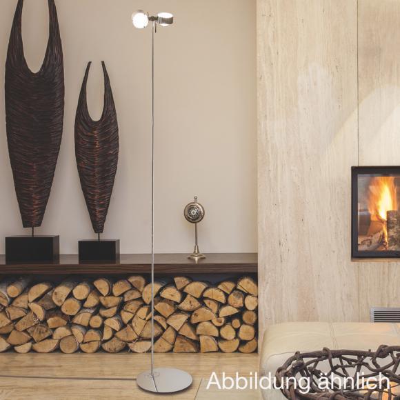 Top Light Puk Floor maxi twin Stehleuchte mit Dimmer, Halogen Ø 8 H: 180 cm, chrom matt 6-081801-2, EEK: B