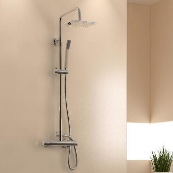Treos Serie 173 Thermostat Duschsystem für Wandmontage mit Kopfbrause
