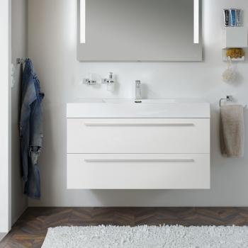 Treos Serie 900 Waschtischunterschrank mit Waschtisch white