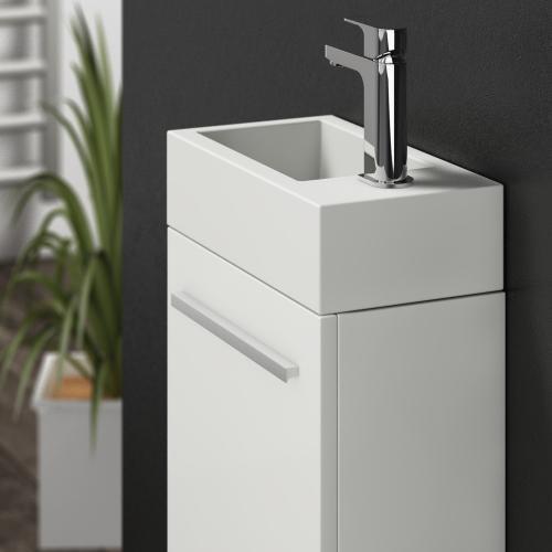 Treos Serie 900 Handwaschbecken mit Unterschrank weiß