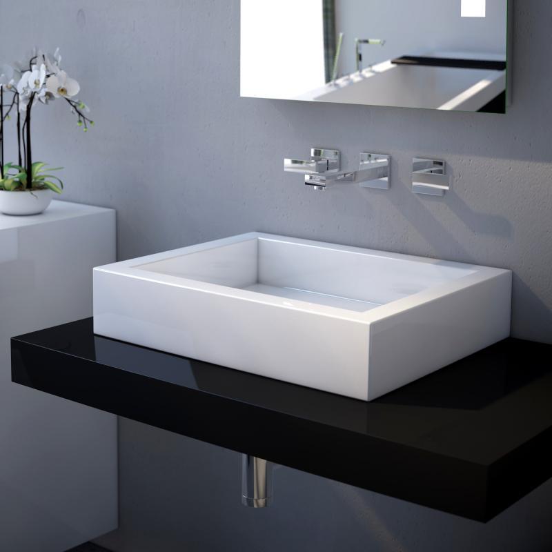 Treos serie 710 aufsatzwaschtisch - Aufsatzwaschbecken ohne hahnloch ...
