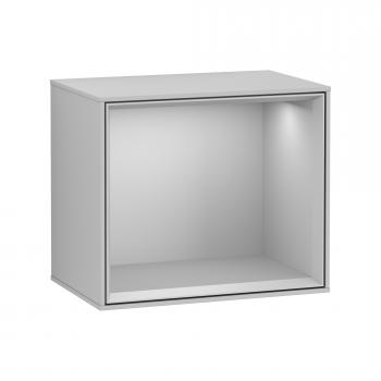 Villeroy & Boch Finion LED-Regalmodul light grey matt