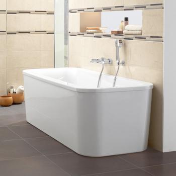 Freistehende Badewanne günstig kaufen - Emero.de | {Badewanne mit duschzone eckig 64}