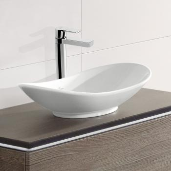 Villeroy & Boch My Nature Aufsatzwaschtisch, oval weiß, mit CeramicPlus