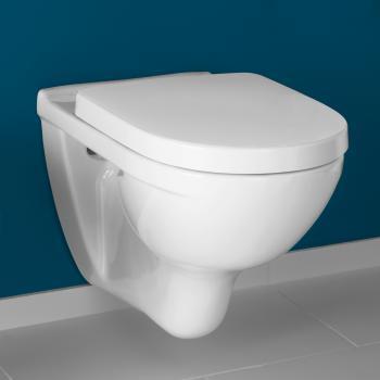 Villeroy & Boch O.novo Tiefspülwand-WC mit WC-Sitz L: 56 B: 36 cm weiß