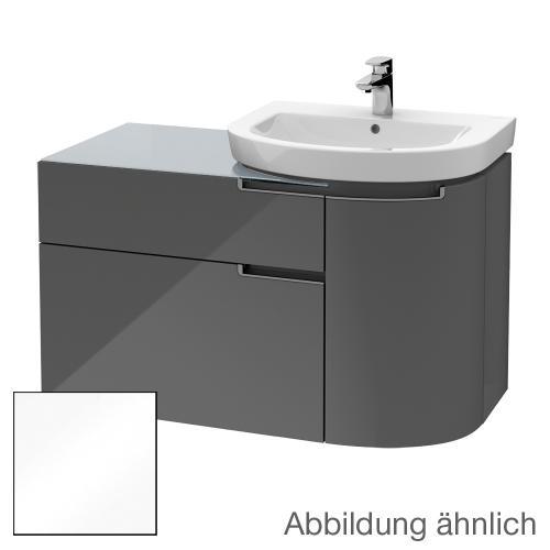 villeroy boch subway 2 0 waschtischunterschrank mit 2 ausz gen und 1 t r front glossy white. Black Bedroom Furniture Sets. Home Design Ideas