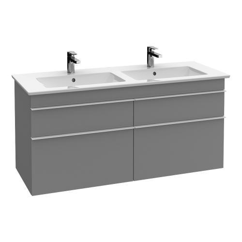 Villeroy & Boch Venticello Schrank-Doppelwaschtisch weiß mit CeramicPlus