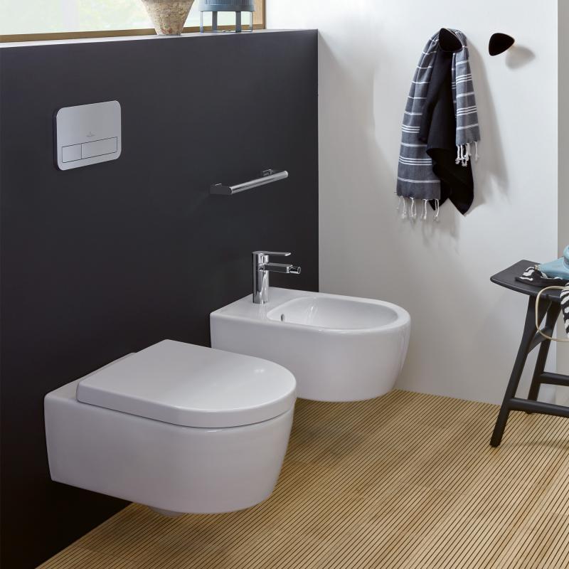 Villeroy & Boch Avento Wand-Tiefspül-WC, DirectFlush, mit WC-Sitz ...