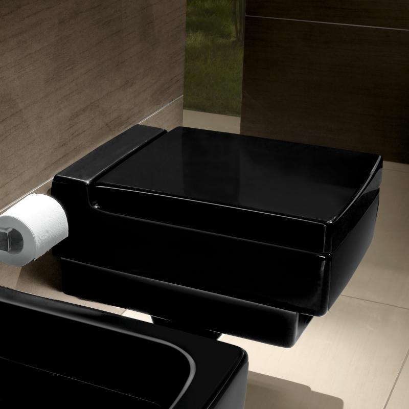 Fesselnd Villeroy Boch Memento Tiefsp L Wand WC Glossy Black CeramicPlus