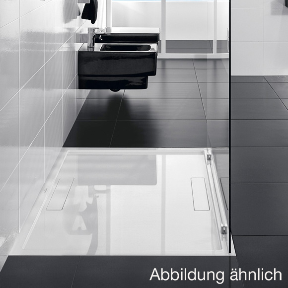 Villeroy & Boch Squaro Rechteck-Duschwanne anthrazit matt ...