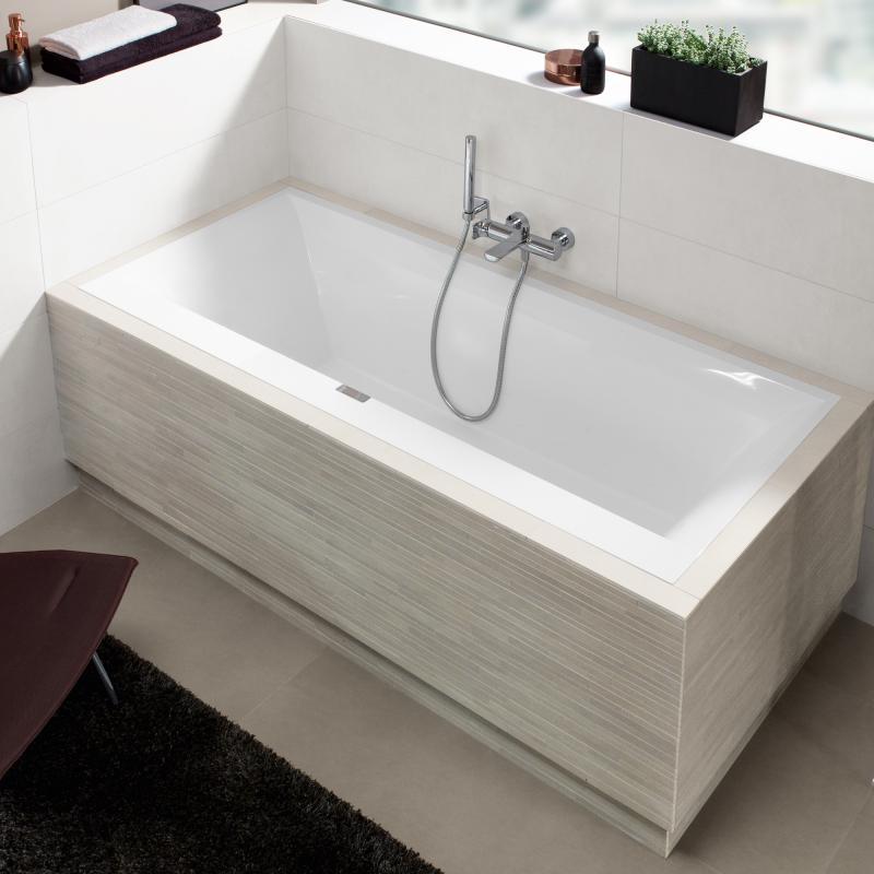 Villeroy boch squaro edge 12 rechteck badewanne for Villeroy und boch badewanne
