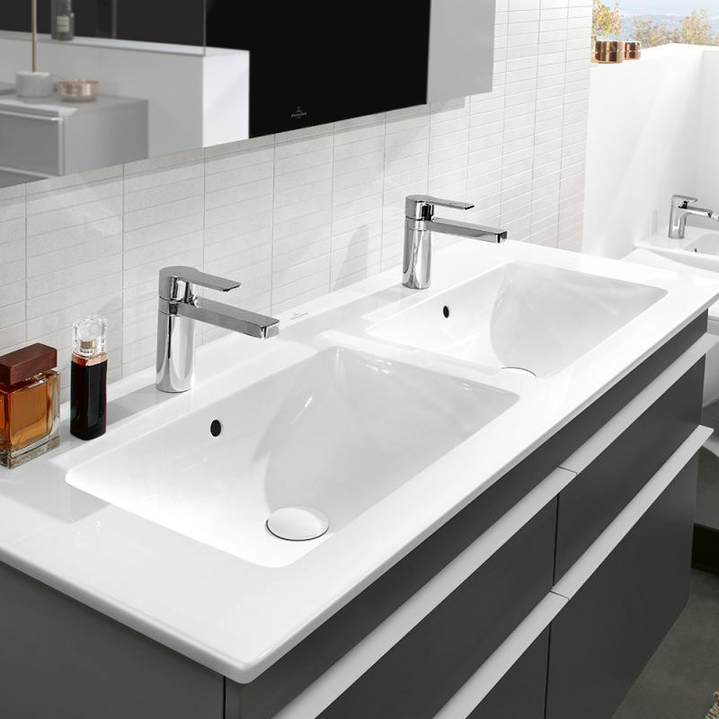 Doppelwaschtisch mit unterschrank weiß  Waschtisch kaufen » Marken-Waschbecken -68% günstiger - EMERO