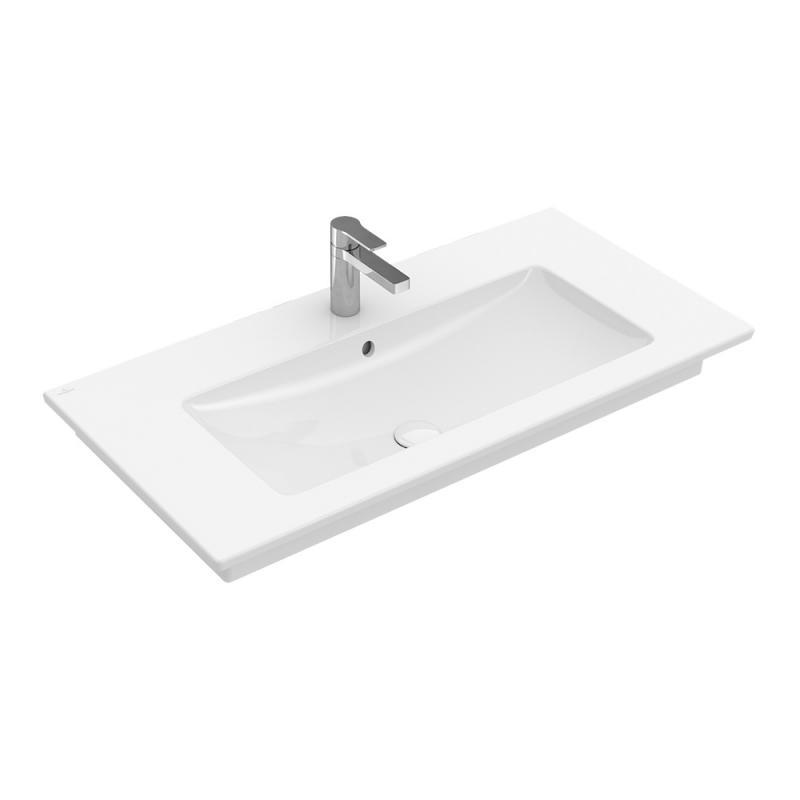Waschbecken eckig ohne hahnloch  Waschtisch kaufen » Marken-Waschbecken -68% günstiger - EMERO