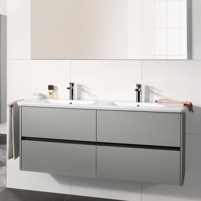 Villeroy & Boch Vivia Doppelwaschtisch weiß - 4143D401 - Emero.de | {Doppelwaschtisch villeroy & boch 86}